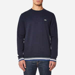 Lacoste Men's Welt Detail Sweatshirt - Navy Blue/Multico