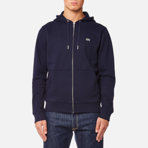 Lacoste Men's Zipped Hoody - Navy Blue/Methylene