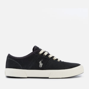 Polo Ralph Lauren Men's Tyrian Suede Vulcanised Trainers - Dark Carbon Grey