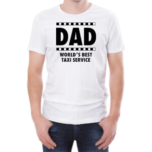 Dad World's Best Taxi Service Men's White T-Shirt