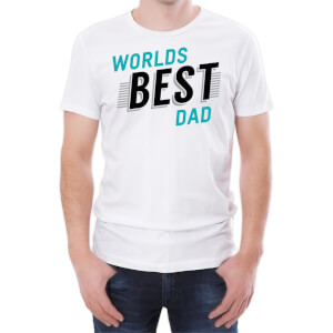 T-Shirt Homme World's Best Dad -Blanc
