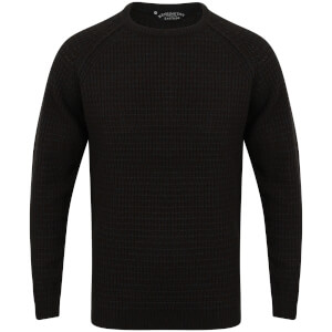 Kensington Men's Crew Neck Jumper with Twist - Charcoal