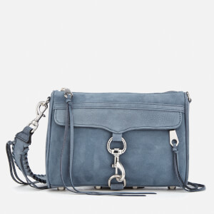 Rebecca Minkoff Women's Mini M.A.C. Cross Body Bag with Guitar Strap - Dusty Blue
