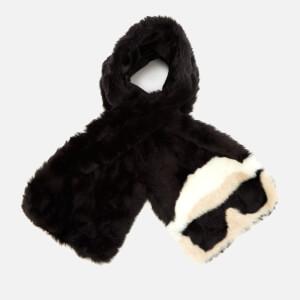 Karl Lagerfeld Women's K/Ikonik Faux Fur Scarf - Black