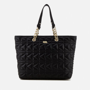 Karl Lagerfeld Women's K/Kuilted Shopper Bag Core - Black/Gold