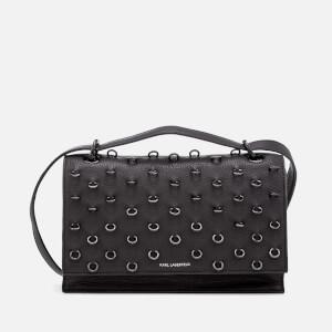 Karl Lagerfeld Women's K/Piercing Shoulder Bag - Black/Black