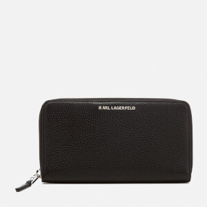 Karl Lagerfeld Women's K/Kool Zip Wallet - Black