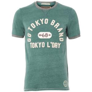 Tokyo Laundry Men's Winterfield Jersey T-Shirt - Marlard Green Marl