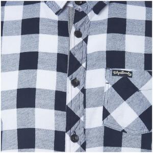 Tokyo Laundry Men's Alhambra Flannel Long Sleeve Shirt - White: Image 3