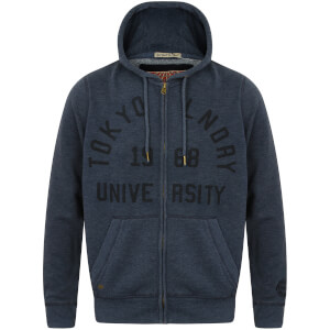 Tokyo Laundry Men's Candlewood Zip Through Hoody - Dark Navy