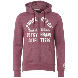 Tokyo Laundry Men's Snohaus Grindle Zip Through Hoody - Oxblood
