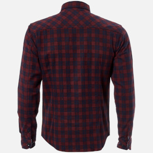 Tokyo Laundry Men's Glendale Flannel Long Sleeve Shirt - Red: Image 3