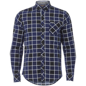 Tokyo Laundry Men's Cadillo Flannel Long Sleeve Shirt - Mid Blue