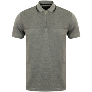 Dissident Men's Henstridge Half Panel Polo Shirt - Grey