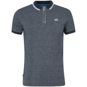 Le Shark Men's Holmdale Zip Polo Shirt - Navy Fleck