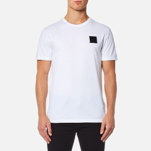 Versace Collection Men's Velcro Logo T-Shirt - Bianco Lana