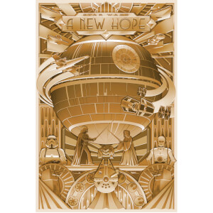 Star Wars: A Shiny New Hope - Zavvi Exclusive Fine Art Screen Print - Door Acme Archives Artist Steve Thomas
