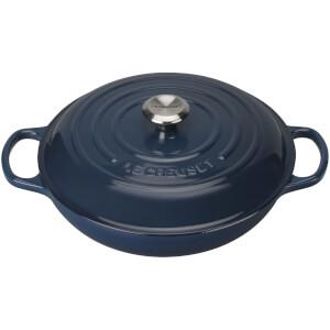 Le Creuset Signature Cast Iron Shallow Casserole Dish - 30cm - Ink