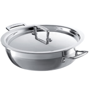 Le Creuset 3-Ply Stainless Steel Shallow Casserole Dish - 26cm