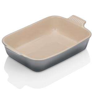 Le Creuset Stoneware Medium Heritage Rectangular Roasting Dish 26cm - Flint