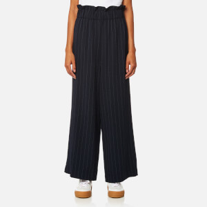Ganni Women's Clark Pinstripe Trousers - Total Eclipse
