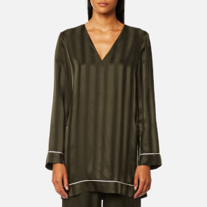 Ganni Women's Loring Silk Top - Rosin