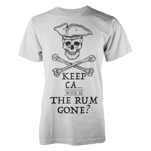 T-Shirt Keep Ca.. Why Is The Rum Gone ? -Blanc