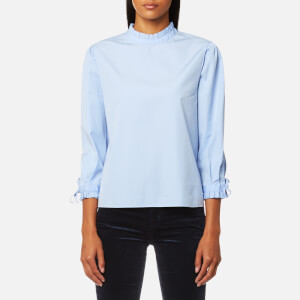BOSS Orange Women's Epei Shirt - Open Blue