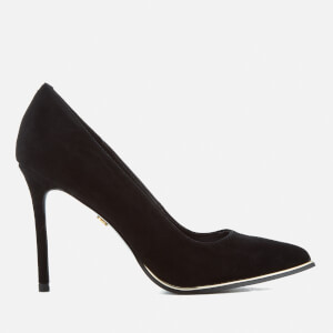 KG Kurt Geiger Women's Beauty Suede Court Shoes - Black