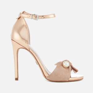 KG Kurt Geiger Women's Hermione Suede Barely There Heeled Sandals - Nude
