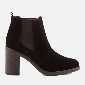 KG Kurt Geiger Women's Sicily Suede Heeled Chelsea Boots - Black