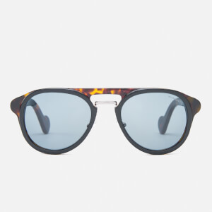 Moncler Men's Aviator Sunglasses - Black/Blue