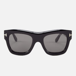 Tom Ford Men's Wagner Sunglasses - Shiny Black/Smoke