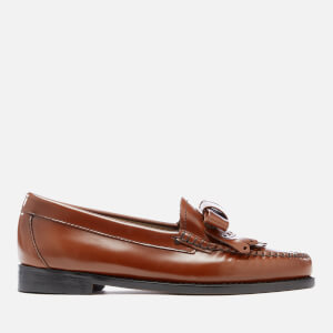 Bass Weejuns Women's Esther Bow Leather Loafers - Cognac