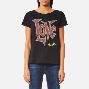Love Moschino Women's Large Letter Love T-Shirt - Black