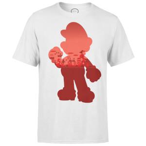Nintendo Super Mario Mario Silhouette Men's Grey T-Shirt