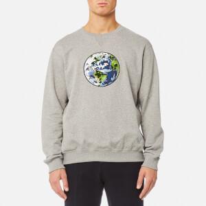 Coach 1941 Men's Planet Earth Sweatshirt - Heather Grey