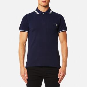 Versace Jeans Men's Back Logo Polo Shirt - Blue