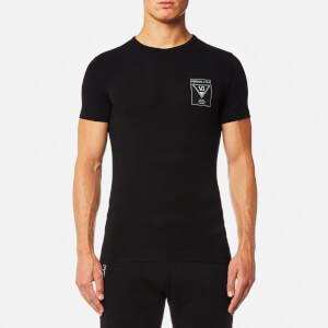 Versace Jeans Men's Small Chest Logo T-Shirt - Nero