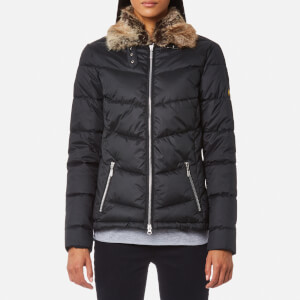 Barbour International Women's Garvie Quilt Coat - Black