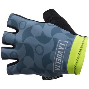 Santini La Vuelta 2017 Stage 15 Granada Race Gloves - Teal Blue
