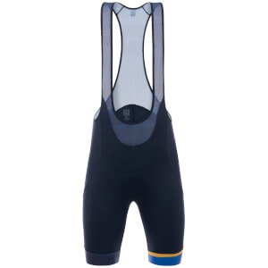 Santini La Vuelta 2017 Stage 19-20 Asturias Bib Shorts - Blue/Yellow
