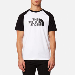The North Face Men's Raglan Easy Short Sleeve T-Shirt - TNF White/TNF Black