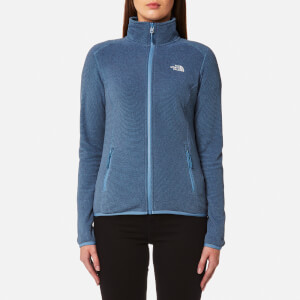 The North Face Women's 100 Glacier Full Zip Fleece Jumper - Provincial Blue Stripe
