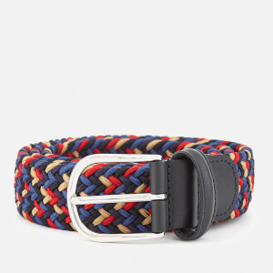 Anderson's Men's Woven Fabric Belt - Navy Multi