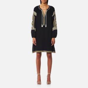 Maison Scotch Women's Embroidered Boho Dress - Night
