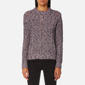 Maison Scotch Women's Crew Neck Multi Yarn Knitted Jumper - Combo A