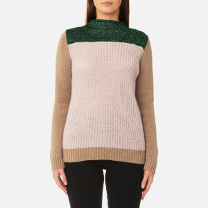 Maison Scotch Women's Colour Blocked High Neck Jumper - Combo A