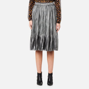 Maison Scotch Women's Pleated Skirt - Silver