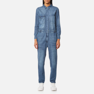 Selected Femme Women's Cover Denim Jumpsuit - Dark Blue